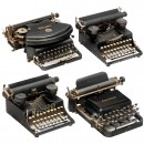 4 Small American Typewriters