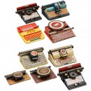 9 American Toy Typewriters