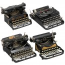 4 Small Typewriters