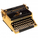 Royal Quiet Deluxe Gilt-Finish Typewriter, 1948