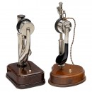 2 French Table Telephones, c. 1920
