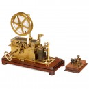 French Brass Morse Telegraph by Digney, c. 1880