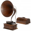 Edison Triumph Phonograph with Music Master Horn, c. 1905