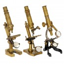3 French Brass Microscopes