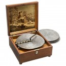 133/8-Inch Kalliope Disc Musical Box with 10 Saucer Bells, c. 19