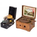 Disc Musical Box and Gramophone