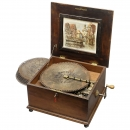 14½-Inch Polyphon Disc Musical Box with 12 Bells, c. 1900