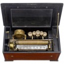 Musical Box with Visible Drum and Bells, c. 1890