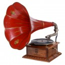 French Art-Nouveau Gramophone Discophone, c. 1915