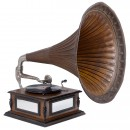 Gramophone with Extra-Large Horn, c. 1915